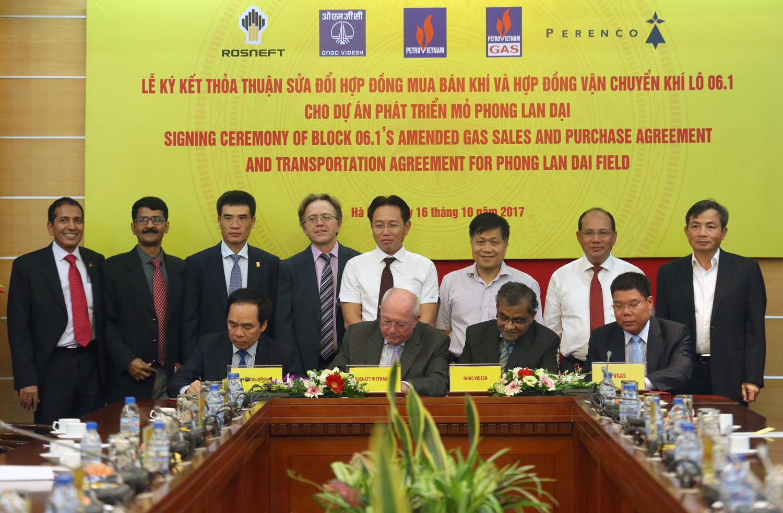 Tập đoàn Dầu khí Việt Nam ký kết các hợp đồng cho Dự án phát triển mỏ Phong Lan Dại