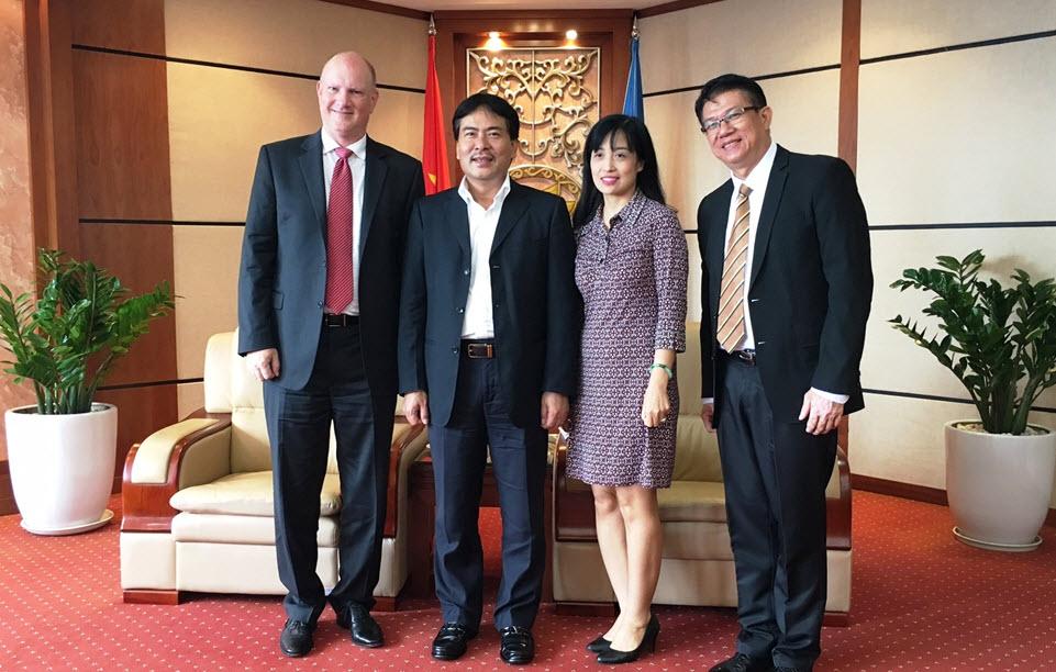 Lãnh đạo PVN tiếp Chủ tịch Khu vực Thái Bình Dương Cơ quan Đăng kiểm Hoa kỳ (ABS)