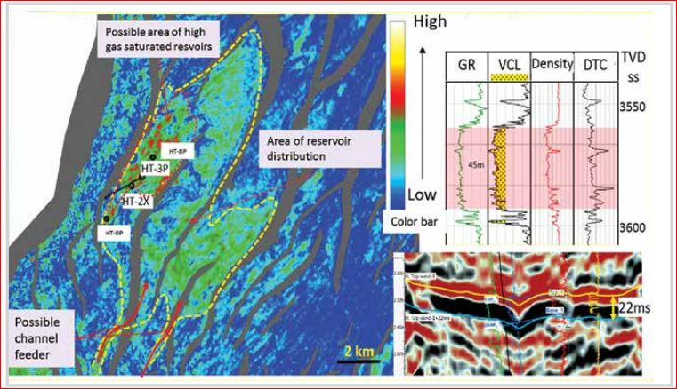 Combining low frequency spectral decomposition and post-stack seismic inversion to identify Middle Miocene gas bearing sands at Hai Thach field